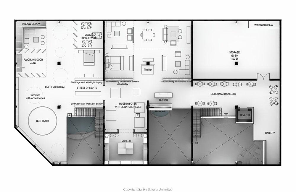 The great eastern home dubai sarika bajoria unlimited for Mezzanine floor plan